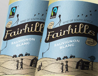 Wine label design Fairhills Ethical Wine by Wanted Design at hellowanted.com
